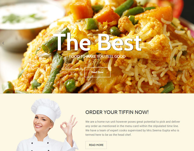 Tiffin Service Website