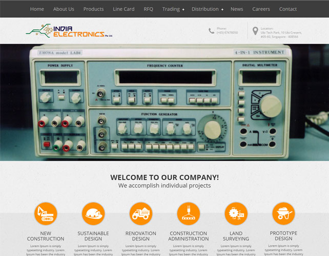 Electrical Parts Web Design
