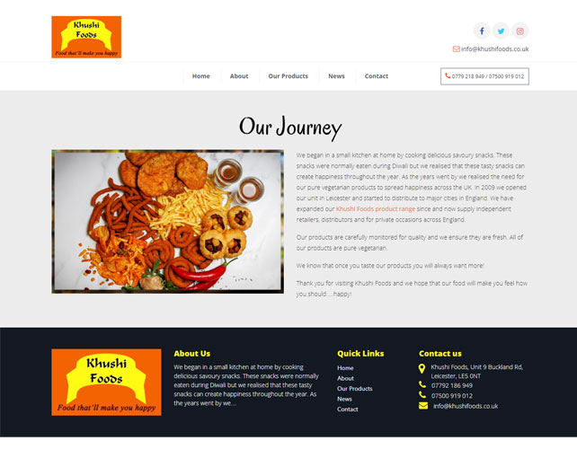 Delicious snacks Website