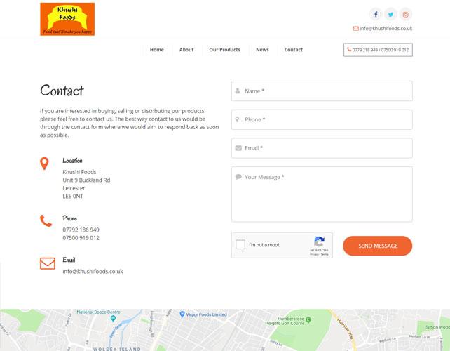 Delicious snacks Website