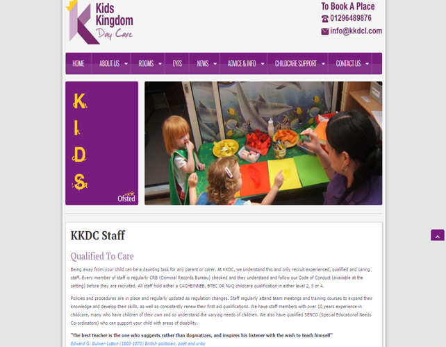 Childcare Business Website