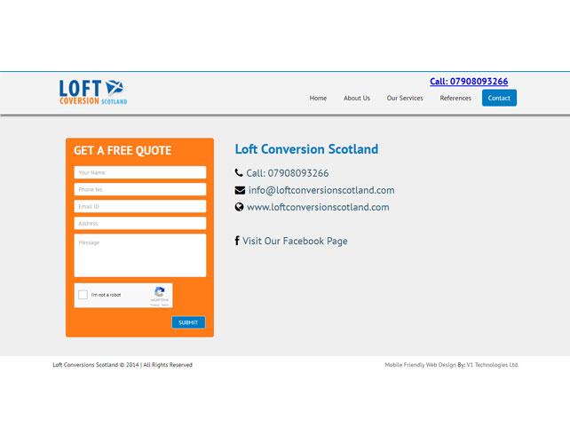 Loft conversion services Website Design
