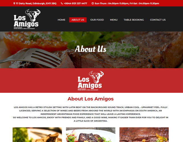 WEBSITE FOR STEAK LOVER