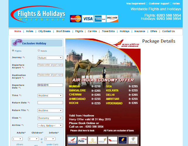 Travel Agent Website