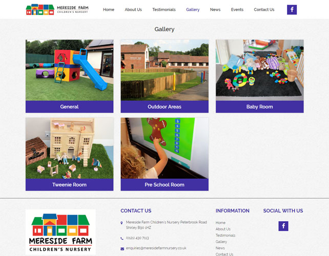 Childrens Nursery Website