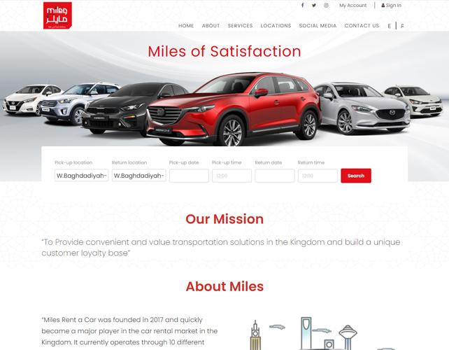 Car Rental Company Website