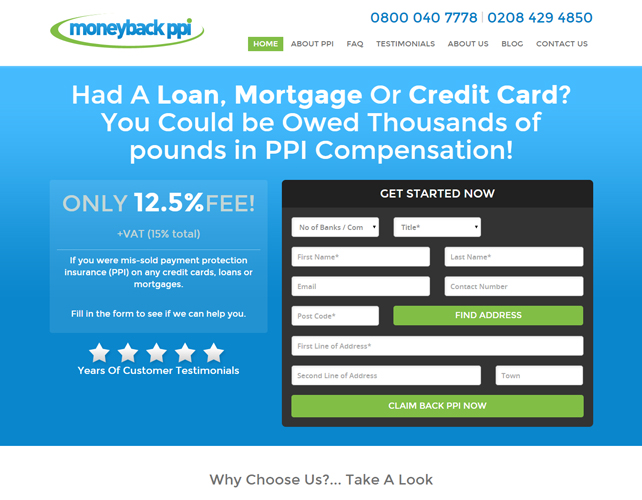PPI Accident Claim Web Site