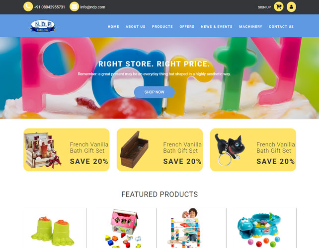 Toy shop Website Design