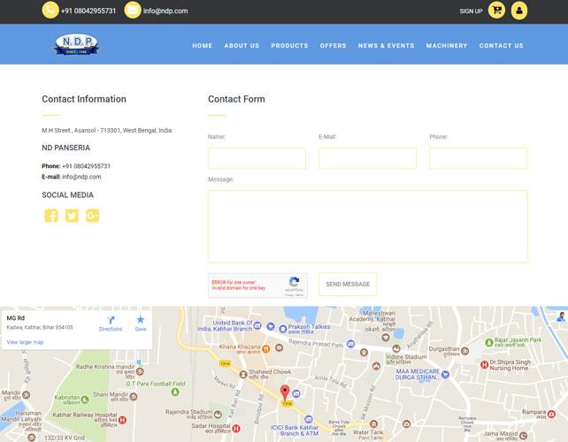 Toy shop Website Design