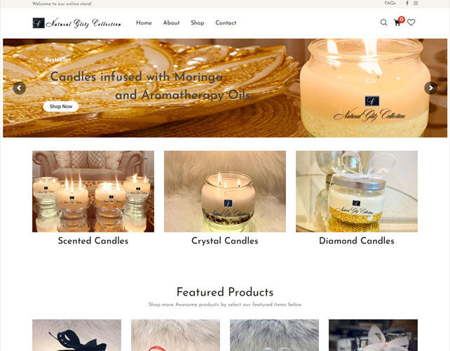 Candle Based Website Design