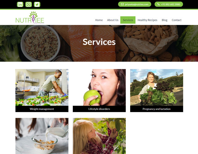 Nutrition Website Design
