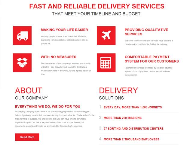 Delivery Service Web Portal