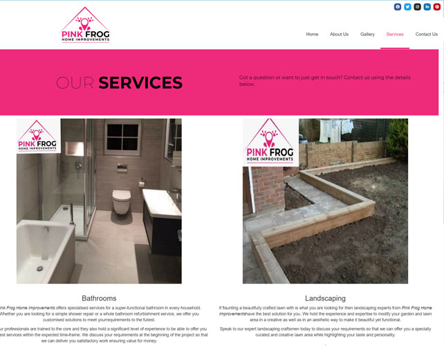 Pink Frog Property Solution Website Design