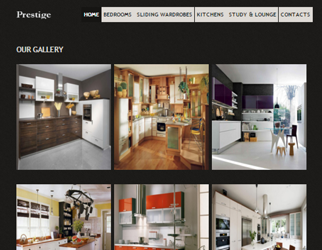 Website Design for Bedroom and Kitchen Designers