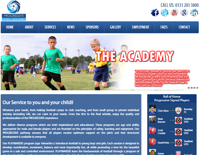 Football Academy Website