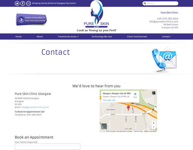 Website for Beauty Clinic