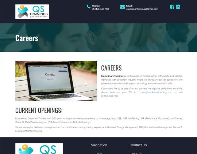 Training Solutions Website