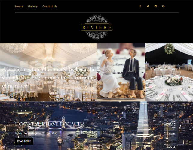 Wedding organizers Website