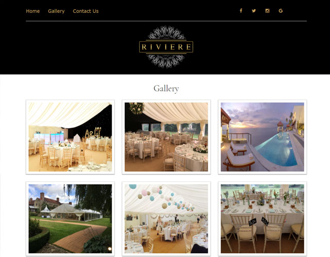 Wedding organizers Website