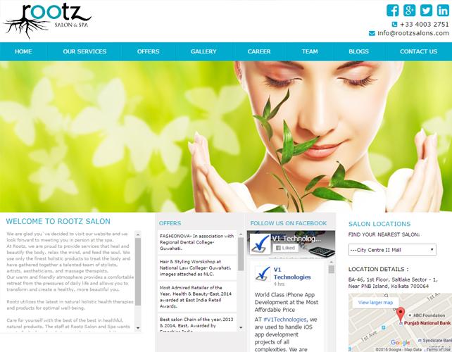 Indian Salon Website