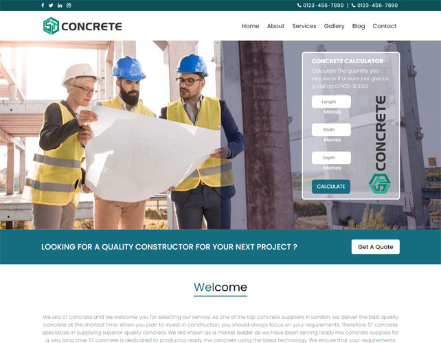 Construction Based Website Design
