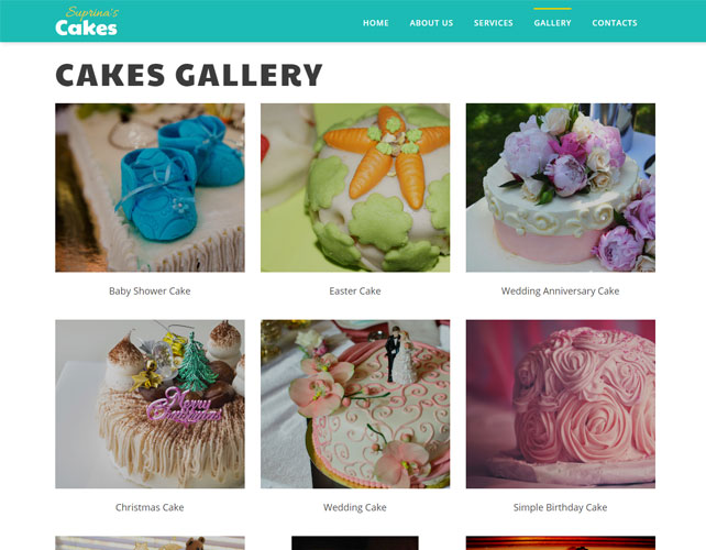 Customized Cakes Maker Website Design