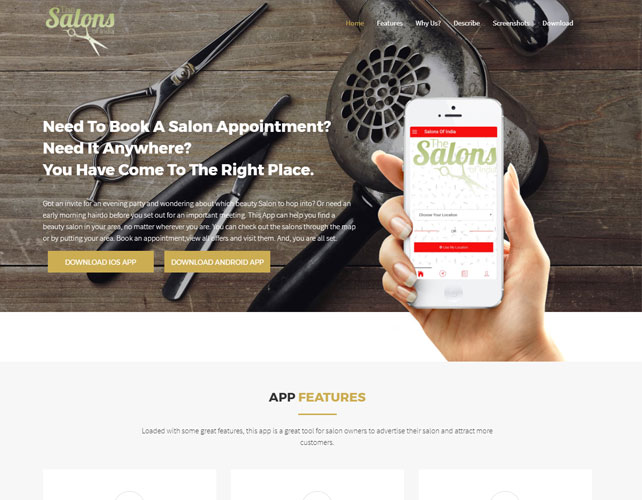 Salons and Beauty Parlours Website Design