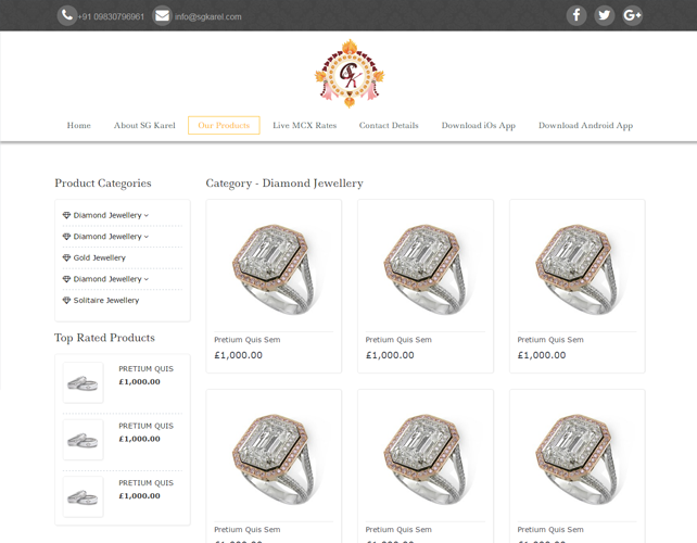 Best Jewellery Business Website Design