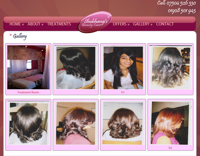 Beauty Parlor Website