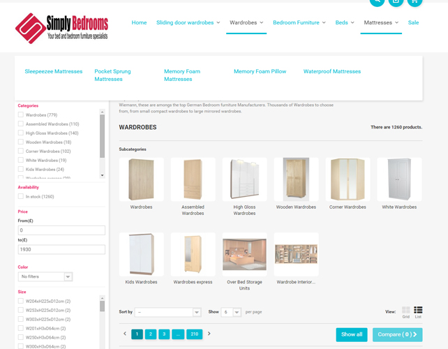 Furniture eCommerce Website