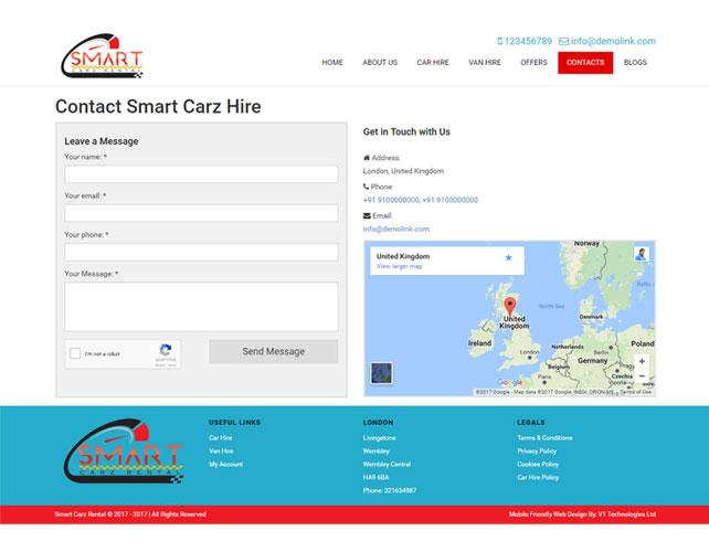 Car Rental Web Design