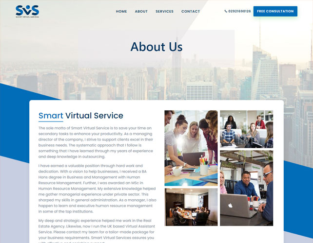 Virtual Assistant Services Website