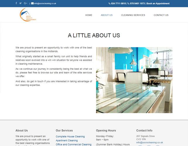 Cleaning Service Website Design