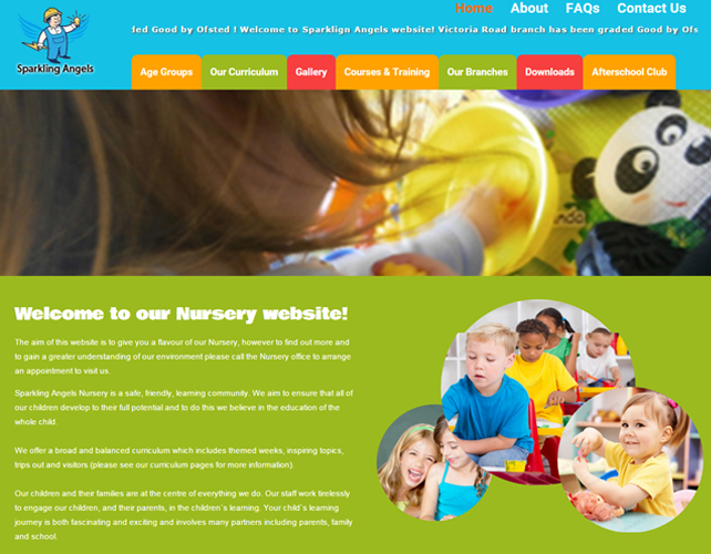 Web Design for Day Nursery