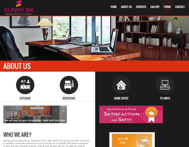 Interiors Business Website