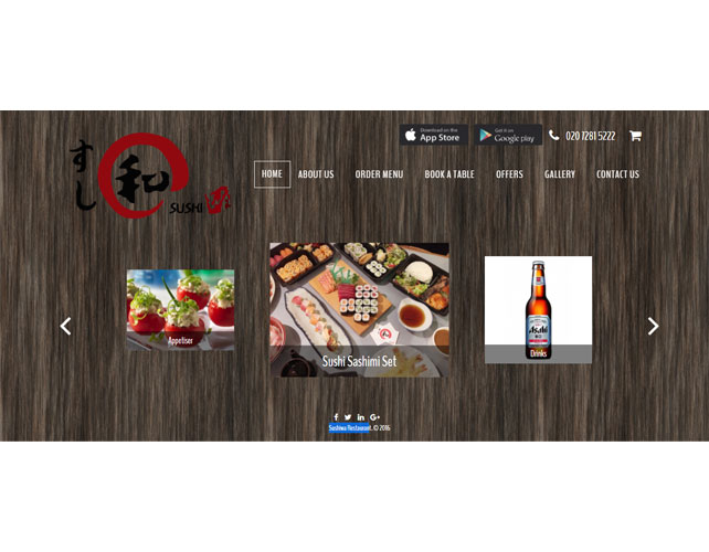 DELICIOUS SUSHI FOOD WEBSITE DESIGN