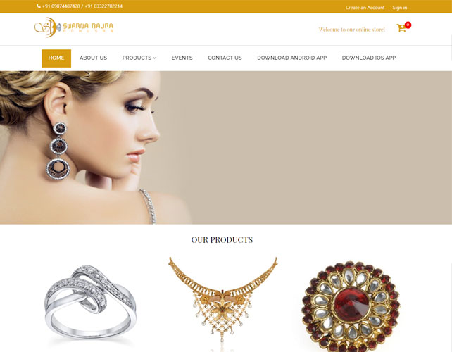 fashionable jewelleries Website