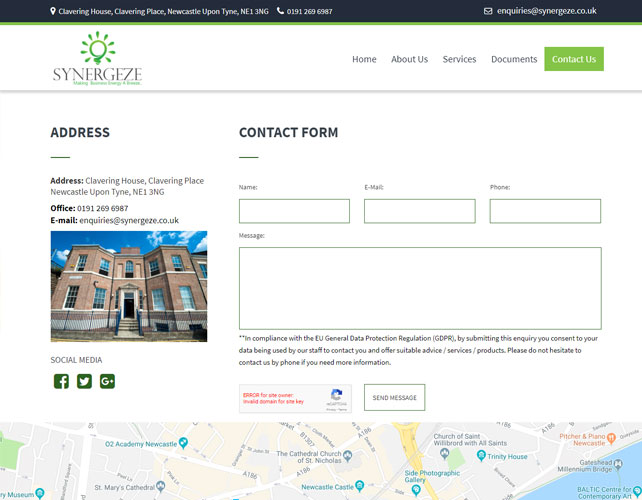 Energy Consultancy Website
