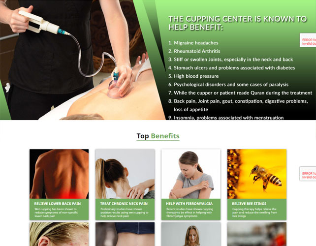 Cupping Therapy Website Design