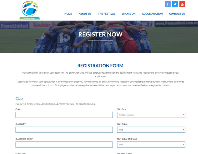 Football Festival Website