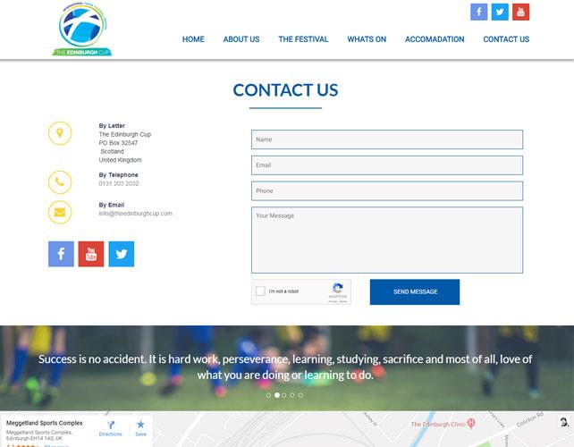 Football Festival Website