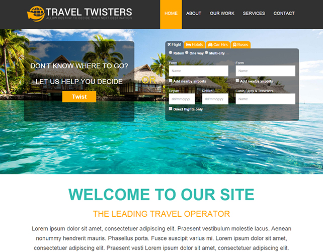 Website for Travel Consultant