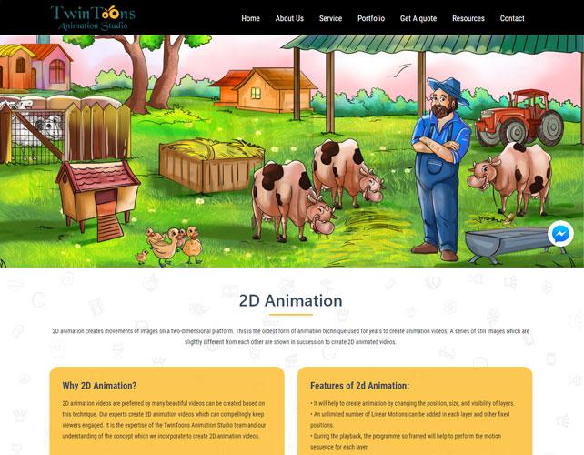 Animation Studio Website