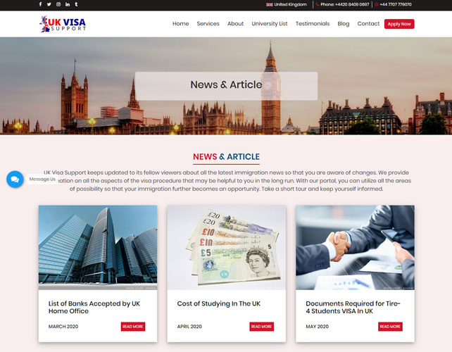 Immigration Consultancy Website
