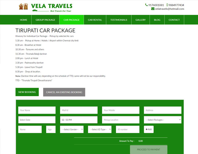 Website Design For Travel Business