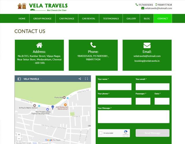 Website Design For Travel Business