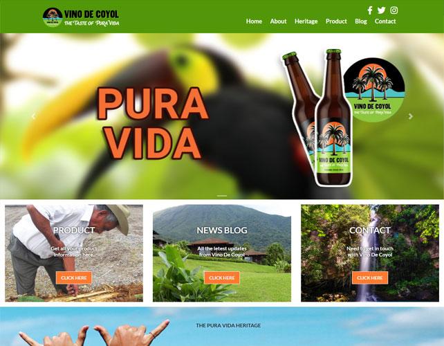 Palm Wine Website Design