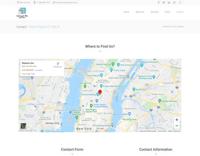 Virtua  Assistants Website Design