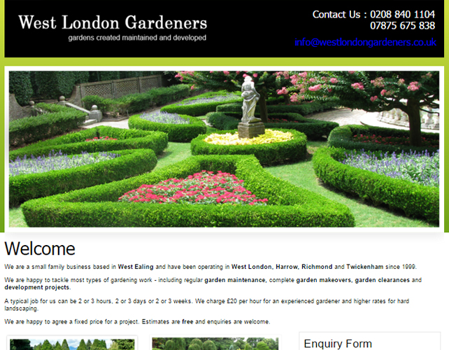 Website for a Gardener
