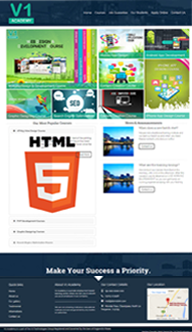 Website For Web Design & Development Courses